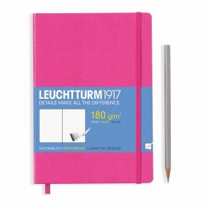 Leuchtturm1917 - Leuchtturm1917 A5 Sert Kapak Sketchbook Pink 344664 3437