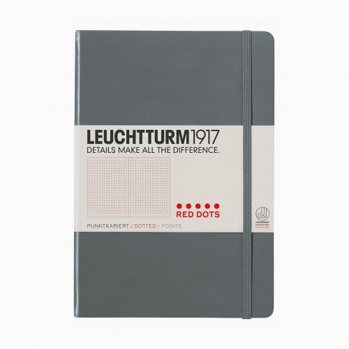 Leuchtturm1917 A5 Special Edition RED DOTS A5 Dot (Noktalı) Defter Anthracite 357699 2726