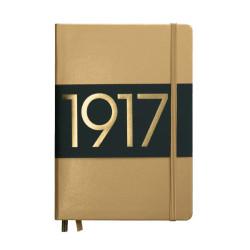 Leuchtturm1917 - Leuchtturm1917 Metalik Gold 100.Yıl Limited Edition Çizgili Defter