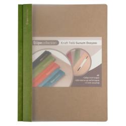 Fabio Ricci - Lipe Collection Kraft Telli Sunum Dosyası Yeşil