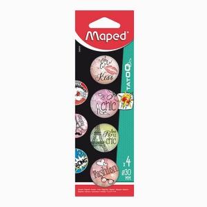 Maped - Maped 4'lü Mıknatıs Seti Kiss 0109