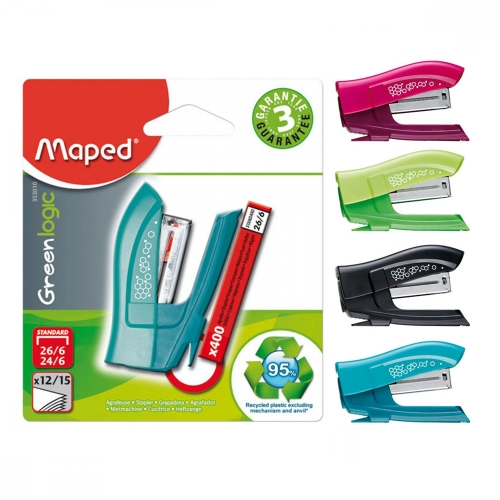 Maped Green Logic Mini Zımba + Zımba Teli No:24/6 26/6 0102