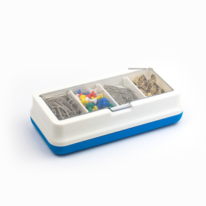 Mas - MAS Soft Touch Masa Üstü Tutacak Seti Mavi Turuncu 9251 (1)