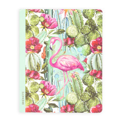 Keskin Color - Mint Flamingo Çizgili Defter 20x25 cm
