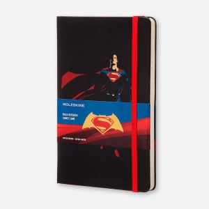 Moleskine - Moleskine A5 Batman V Superman Limited Edition Çizgili Defter 1534