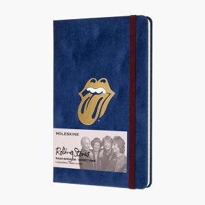 Moleskine - Moleskine A5 The Rolling Stones Limited Edition Çizgili Defter Mavi 0906