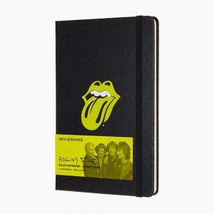 Moleskine - Moleskine A5 The Rolling Stones Limited Edition Çizgili Defter Siyah 0876