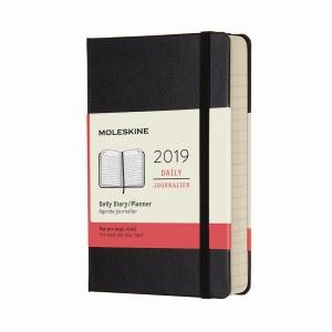 Moleskine - Moleskine A6 2019 Günlük Ajanda Siyah 5642