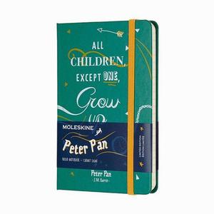 Moleskine - Moleskine A6 Peter Pan Limited Edition Çizgili Defter Yeşil