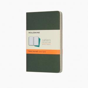 Moleskine - Moleskine Cahiers 3'lü Small Çizgili Defter Yeşil 5211