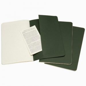 Moleskine - Moleskine Cahiers 3′lü Medium Çizgili Defter Yeşil 5273 (1)