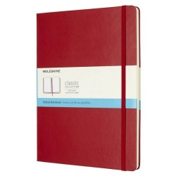 Moleskine - Moleskine Classic Collection Dot Defter Extra Large Kırmızı 4702