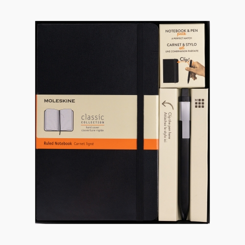 Moleskine Click Pen + Defter Set