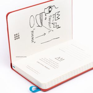 Moleskine Jean-Michel Basquiat Special Edition 9x14cm Çizgili Defter 0547 - Thumbnail