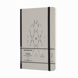 Moleskine - Moleskine Medium Time Collection Limited Edition 100gr. Çizgili Defter Siyah