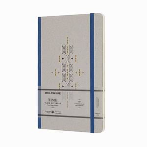 Moleskine - Moleskine Medium Time Collection Limited Edition 100gr. Çizgisiz Defter Mavi