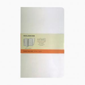 Moleskine - Moleskine Volant 2'li Perforeli Çizgili Defter Beyaz 0523