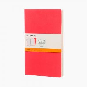 Moleskine - Moleskine Volant 2'li Perforeli Çizgili Defter Kırmızı 0471