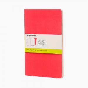 Moleskine - Moleskine Volant 2'li Perforeli Çizgisiz Defter Kırmızı 0518