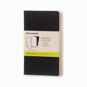 Moleskine - Moleskine Volant 2′li Perforeli Çizgisiz Defter Siyah 0493
