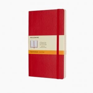 Moleskine - Moleskine Yumuşak Kapak Medium Çizgili Defter Kırmızı 4634