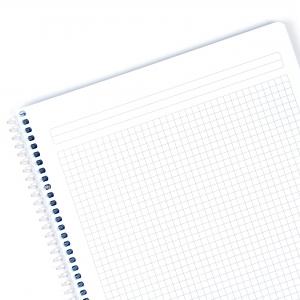Mynote flex A4 120 Yaprak Spiralli Kareli Okul Defteri Düz Renk 3264 - Thumbnail