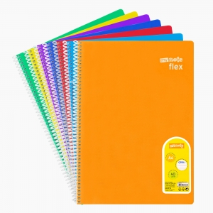 My Note - Mynote flex A4 40 Yaprak Spiralli Çizgili Okul Defteri Düz Renk 2434