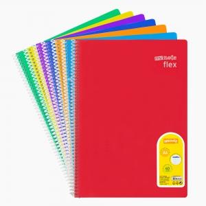 My Note - Mynote flex A4 40 Yaprak Spiralli Kareli Okul Defteri Düz Renk 2441