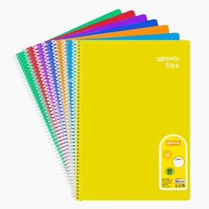 My Note - Mynote flex A4 60 Yaprak Spiralli Çizgili Okul Defteri Düz Renk 8536