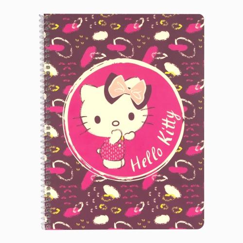 Mynote Hello Kitty Spiralli Çizgili Defter 5020-3 3806
