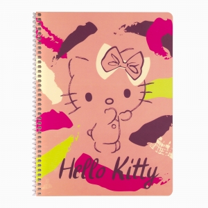 My Note - Mynote Hello Kitty Spiralli Çizgili Defter 5020-5 3806