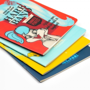 My Note - Mynote Looney Tunes Stapled Çizgili Defter Kırmızı 9403 (1)
