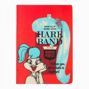 My Note - Mynote Looney Tunes Stapled Kareli Defter Kırmızı 9410
