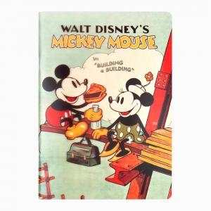 My Note - Mynote Mickey Mouse Stapled Çizgili Defter Bulding 5121