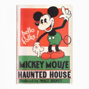 My Note - Mynote Mickey Mouse Stapled Çizgili Defter Haunted House 5121