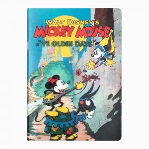 My Note - Mynote Mickey Mouse Stapled Çizgili Defter Olden Days 5121