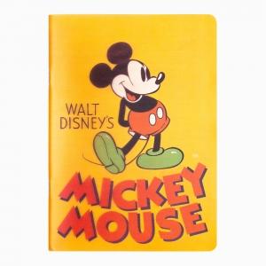 My Note - Mynote Mickey Mouse Stapled Çizgili Defter Turuncu 5121
