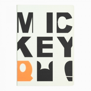 My Note - Mynote Mickey Mouse Stapled Kareli Defter Typo 5725
