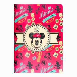 My Note - Mynote Minnie Mouse Stapled Çizgili Defter Kırmızı 4612