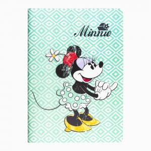 My Note - Mynote Minnie Mouse Stapled Çizgili Defter Yeşil 4612