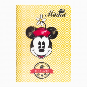 My Note - Mynote Minnie Mouse Stapled Kareli Defter Sarı 4629