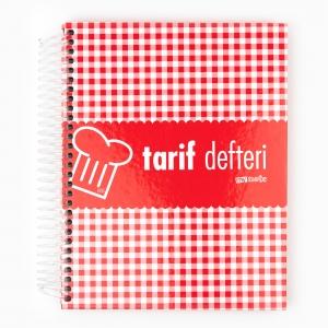 My Note - Mynote Seperatörlü Yemek Tarifi Defteri Ekoseli UC25036 9428