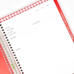 My Note - Mynote Seperatörlü Yemek Tarifi Defteri Ekoseli UC25036 9428 (1)