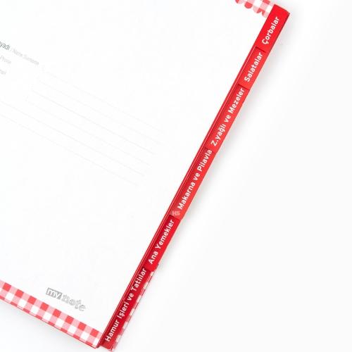 Mynote Seperatörlü Yemek Tarifi Defteri UC25036 9428