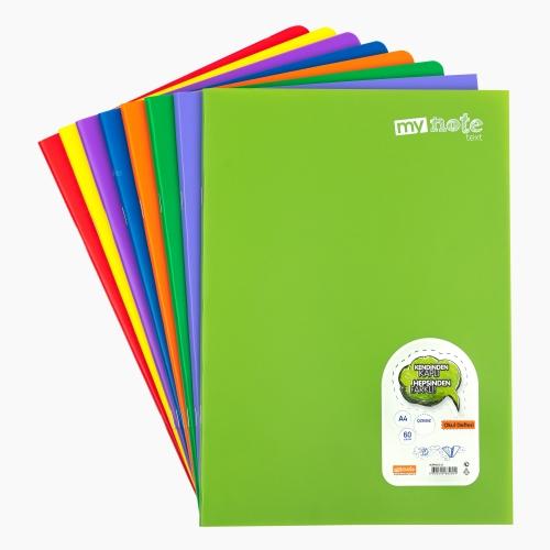 Mynote text A4 60 Yaprak Çizgisiz Okul Defteri Düz Renk 2694