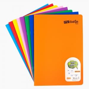 My Note - Mynote text A4 60 Yaprak Kareli Okul Defteri Düz Renk 2700