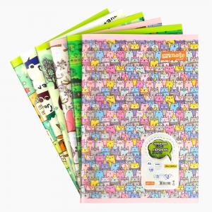 My Note - Mynote text UP A4 100 Yaprak Kareli Okul Defteri Desenli 2540