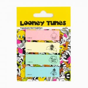 Notix - Notix Looney Tunes Yapışkanlı Ayraç Not Kağıdı Renkli 4640