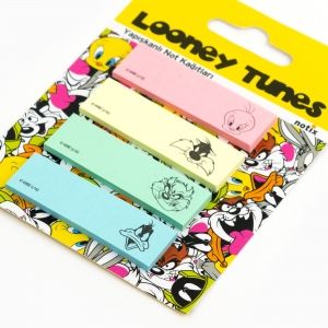 Notix - Notix Looney Tunes Yapışkanlı Ayraç Not Kağıdı Renkli 4640 (1)