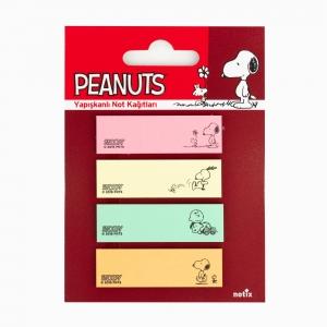 Notix - Notix Peanuts Yapışkanlı Ayraç Not Kağıdı Renkli 4541